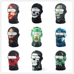 Balaclava Athletic Lycra Biker Motorcycle Full Face Mask Hat Hats CaPHeadgear Headscarf Skull Balaclava Assorted Styles Free Shipping