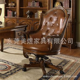 Wholesale The American Book of Yu chair rotating armchair American brand leather office chair wood chair high end furniture
