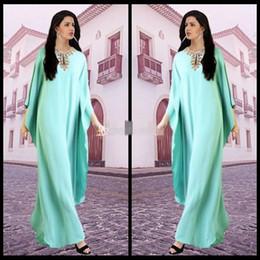 Dubai Kaftans Abaya Jalabiya Ladies Prom Formal Dress Beaded Jewel Neck Evening Arabic Dresses for Party Gowns