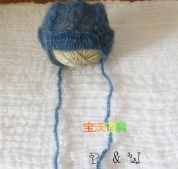 mohair knitted baby pant crochet baby hat photography props