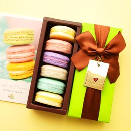 Wholesale 100 Hand Made France Macarons Coconut Oil Soap Gift Box pieces box