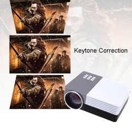 Wholesale 3D video projectors GM50 HD Home Theater Mini LED TV Projector Beamer SD HDMI VGA AV USB Power Bank full hd