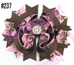 """free shipping 300pcs 4.5"""" Inspired Boutique Layered Hair Bow birthday hair bows girl hair clips -C"""