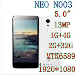 Wholesale NEO N003 MTK6589T Quad Core G G RAM G ROM Android Phone Inch x1080P MP MP Camera MAH