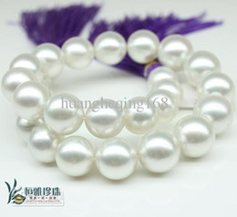 Wholesale - 11-12mm natural Australian south sea white pearl necklace 18inch 14K