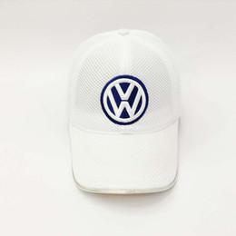 Wholesale Net cap Vw hat das auto hat f automobile race hat baseball cap white colours Ferrary Souvenir Caps