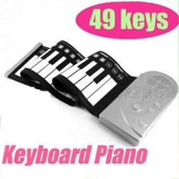 Piano del teclado suave 49 en Línea-Venta caliente Portátil Flexible Rollo de 49 teclas Tecla Suave Sintetizador de Piano Electrónico del Teclado Plegable de Silicona Suave Teclados Electrónicos de Piano
