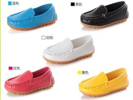 High-quality rubber Soft Sole Casual Flats Boat Shoes Hot Sale Children Shoes Kids PU Leather Sneakers Boys&Girls 21-30