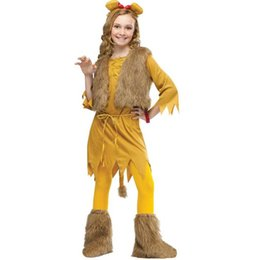 2017 mignon cosplay fille Costumes d'Halloween filles mignons petits lions enfants costumes 4 tailles Costumes Cosplay Party Girl de costumes pour Halloween promotion mignon cosplay fille
