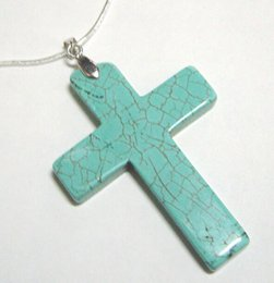 Wholesale 100pcs Turquoise Cross Pendant Charms Pendant Fit DIY Craft jewelry Gift TC1 By DHL