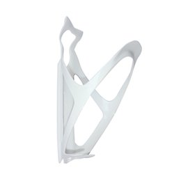 BC2007 single white painted carbon fibre water bottles cages light weight high quality bike bottle holder