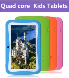 Wholesale cheap tablets inch Quad Core Children Kids Tablet PC MB GB Android Children Educational Apps Christmas best gift DHL FREE