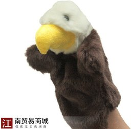 Wholesale Super cute cm pc creative eagle animal education game sleep story plush pacify hand puppet doll stuffed toy baby gift
