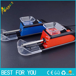 2017 hot sale Tobacco Electric Cigarette Rolling Machine Red or blue rolling filters papers tobacco ROLLER