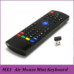 Wholesale X8 Air Fly Mouse MX3 GHz Wireless Keyboard Remote Control IR Learning Axis for M8S T95 MXQ K Pro Plus Box