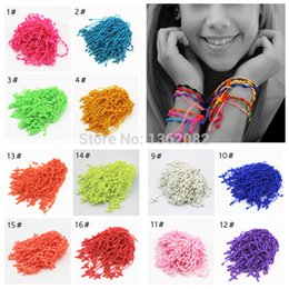 Wholesale Vente en gros Handmade Lucky Cord Braid corde noué Rosaire Bracelets Nylon String Cross Bracelets Party cadeau MB04