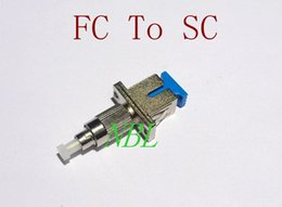 Wholesale High Quality FTTH FC SC Optical Fiber Adapter FC Male To SC Female Hybrid Adaptors FreeShipping