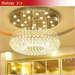 2017 al por mayor de la ingeniería Cristal mayor-moderno techo de la sala luz de la lámpara redonda Lámparas de techo de cristal de las luces del pasillo del hotel Crystal Engineering lámpara al por mayor de la ingeniería oferta