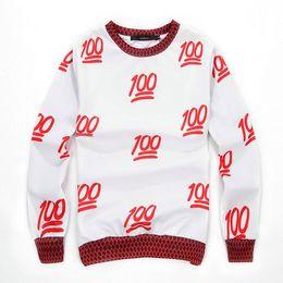 Wholesale 2014 New Winter EMOJI Score D Print Sweatshirts Cute Men women PulloverHoodies Casual Cartoon Percent Sweater Shirts