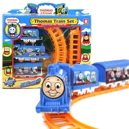 Wholesale Set Thomas train electric eight rail cars tracks Friends Mini Electric Train Set Track Toy for Kids