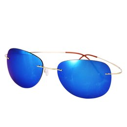 Wholesale Over pure titanium rimless polarized sunglasses yurt flick men and women drivers to drive driving glasses sunglasses rd0077