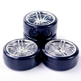Wholesale 3mm Offset mm Hex set RC Flat Drift Tires Wheel Rim Hub Fit HPI On Road Flating Remote Control Car Toy Accessory