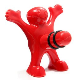 Wholesale Creative Happy Man Bottle Plugs Little Red Men Spoof Wine Lid Stoppers Funny Sealed Storage Bar Kitchen Tools