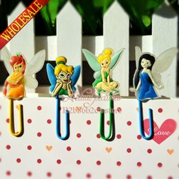 Wholesale New design Tinker Bell kid love Paperclip Bookmarks for Book Page Holder School Office Party Supplies Stationery