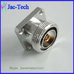 Wholesale 7 DIN Female Jack flange mount solder cup STRAIGHT RF Coax cable Connector