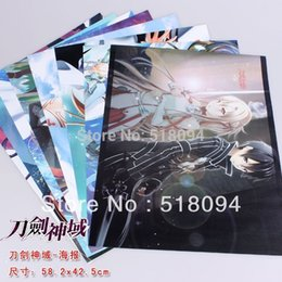Wholesale set Anime Sword Art Online Posters High Quality Thick Embossing Posters Wall Sticker x29cm Anpo006