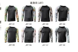 Wholesale JST tight fitting long sleeved camouflage Combat T Shirt Fitness Workout Bodybuilding mens DRI FIT traning clothes sportwear