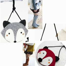 2015 Korea Cute Fox Girls Messenger Bag  Child Creative Non-woven Shoulder Bag Children's Candy Bag Purse Christmas Gifts