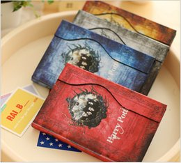 Wholesale new Harry Potters magic book magnetic buckle schedule diary notebook retro vintage notebook diary harry potter notebook notepads BBA3811