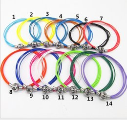 14 colors Hot Fashion Double Leather Bracelets Fit European Charms Bracelet wholesale leather bracelets chain