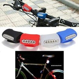 Hot Selling Cycling Bike Bicycle 7 LED Silicone Lamp Colorful Warning Rear Front Lights mountain For Sale