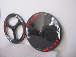 FFWD carbon fiber road track bike FRONT 3 Spoke bicycle disc wheel tubular rear wheel glossy matte finishing