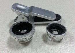 Universal 3 in 1 Clip-On Fish Eye Lens Wide Angle macro Mobile Phone Lens For iPhone 4 5 6 Samsung Galaxy S4 S5 All Phones fisheye