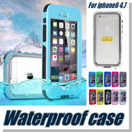 Wholesale Iphone Case Waterproof Case Touch ID Fingerprint identify Underwater meters Colorful Swimming Sport Case Shockproof Dustproof Case