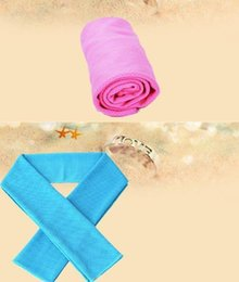 Wholesale Cold cooling Performance towel sports outdoor ice cold scarf scarves Pad neck tie collar wristband headband Summer beach cooling band gift