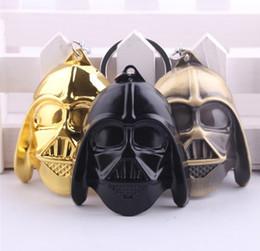 Wholesale 2015 Star Wars black knight Dark Warrior Darth Vader Keychain Hot Cartoon Movie key ring toys Zinc Alloy Keychains Keys Chains Rings D3845