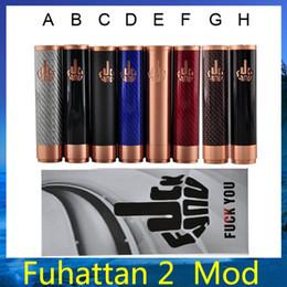 V2 fuhattan à vendre-Fibre de carbone fuhattan v2 mod Vape mécanique Mod Fuhattan fit 18650 batterie 510 Atomizer vs kbox 40w MVP 20 30 W Osmium mod DHL 0207384 -2