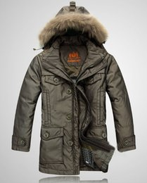 Wholesale Superb Clothing - Fall-Hot sell ! Free shipping superb men's clothes winter warm Detachable lining collar Hooded medium-long down coat M-4XL
