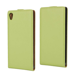 For Sony Xperia Z5 Texture Real Flip Leather Case