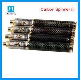 Torsion ii en Ligne-2015 New Vision batterie e cig Vision Carbon Spinner 3 III Mod 1650mAh Twist VV batterie II Clone pour Aspire Mini Protank