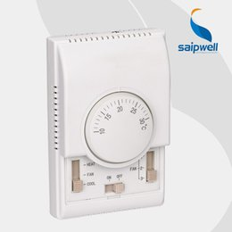 Wholesale Temperature fan speed Control Floor Heating System Saipwell SP house room Mechanical thermostat central Air condition