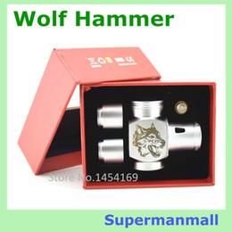 Wholesale new wolf Hammer Mod vaporizer E pipe mod Mechanical Mods for TTY Plume Veil RBA atomizer vape mod ecig mod vapor