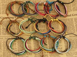 PUNK Handmade woven hemp rope bracelet fashion men women teens multilayer bracelet 2015 wristband ID bangle cuff party festive gift JEWELRY