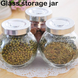 Wholesale 2 ml Glass jars and lids Food Candy storage Tea container Caning Sealing Violetta Mason Jars Kitchen accessories