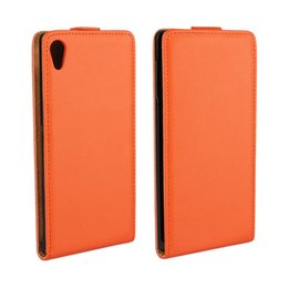 For Sony Xperia Z4 Texture Genuine Leather Flip Phone Case Cover