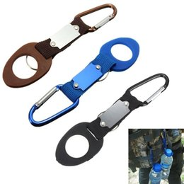 Wholesale Outdoors Sports Water Bottle Buckle Hook Holder Clip Bottle Hanger Aluminum Carabiner travel Survival Tool For Camping Hiking